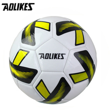 Primary School Students 3# Training Football AOLIKES Brand Children Cartoon Green Ball Wear Resistance High Elasticity Soccer(China)