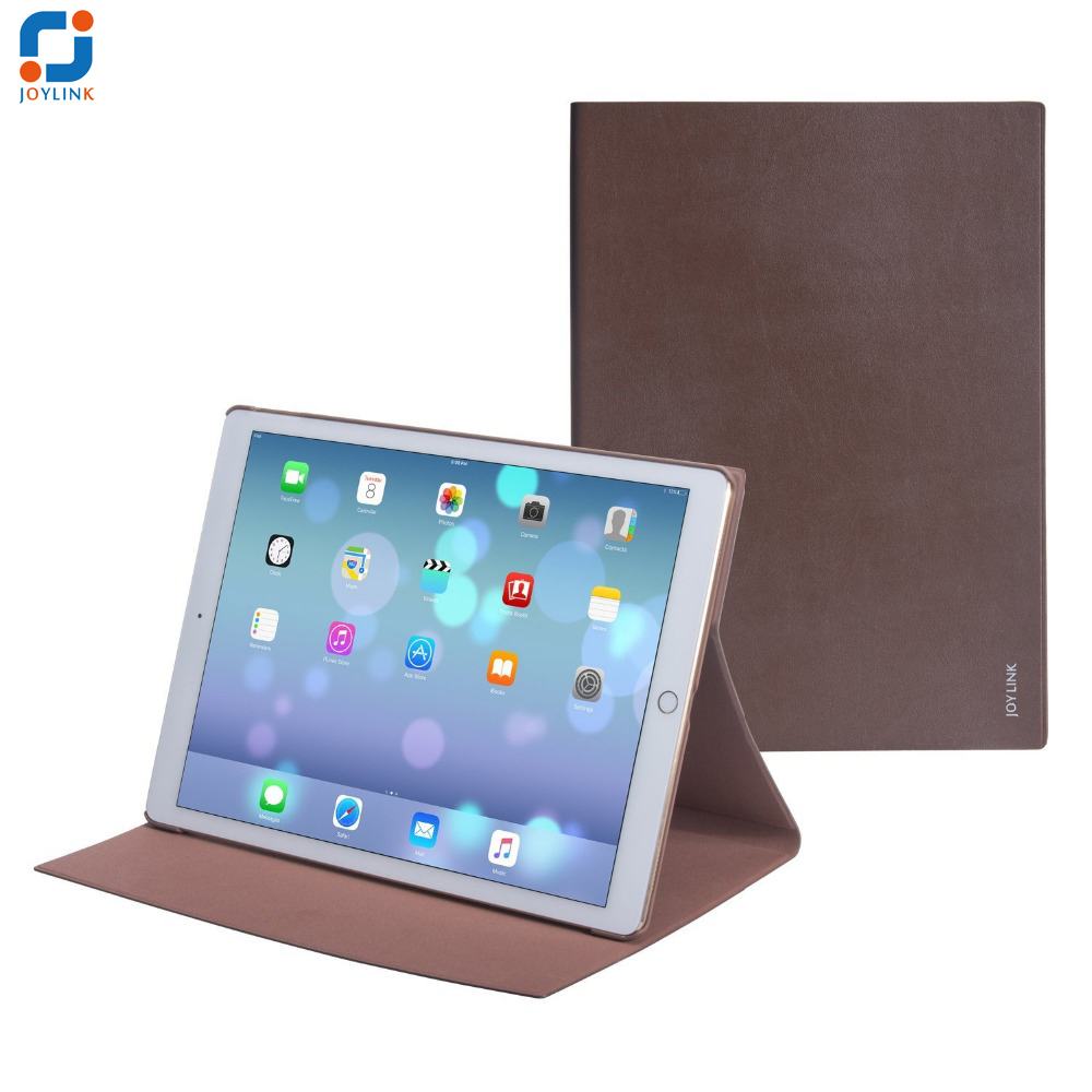Joylink Top Genuine Leather Folding Folio Case for Apple iPad Pro 12.9, Real Leather Tablet Holder Stand for iPad Pro 12.9 inch<br>