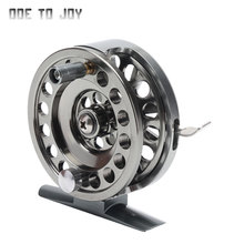 Portable Ice Fishing wheel Winter Shrimp Fish Fly Ice Travel Mini Size Fishing Tackle Reel Spinning Reel fly line wheel molinete(China)