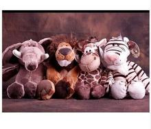 NICI series 10inch  jungle animals series jungle lion, tiger ,giraffe and elephant  toys  4 pieces/a lot  kids' gift  CL-1