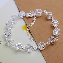 Free shipping silver plated jewelry bracelet fine fashion bracelet top quality wholesale and retail SMTH241(China)