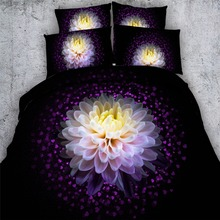 luxury china flower 3d lotus bedding sets girl 3/4pc bedspreads king twin sizes quilt covers 500tc queen weave beauty bed linens(China)