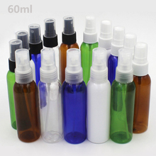 50 Pics/lot factory direct sale PET 60ml spray bottle , clear bottle, plastic spray bottle 20mm Caliber PET spray bottle(China)
