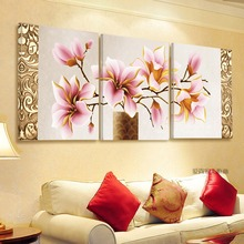 No Frame 3pcs Print Canvas Wall Art Orchids Decoration Art Oil Painting Modular Pictures On The Wall Canvas Art  For Home FY13