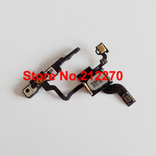 Free DHL EMS New Proximity Light Sensor Power Button Flex Cable With Ear Speaker & Bracket For iPhone 4 GSM Wholesale