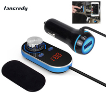 Tancredy Car MP3 Player Bluetooth FM Transmitter FM Modulator Bluetooth Hands Free Kit LCD USB Car Charger for iPhone Samsung