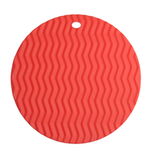 5 Color Mat Silicone Circular Shape Insulation Cushion Heat Resistant Pad Non-slip Kitchen Use Anti Ironing Casserole Mat Tray