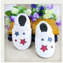 24 Colors Real Leather Embroider Baby Shoes Slip-On First Walkers Unisex Pre-Walkers Toddlers Patch Non-Slip Infant Footwear