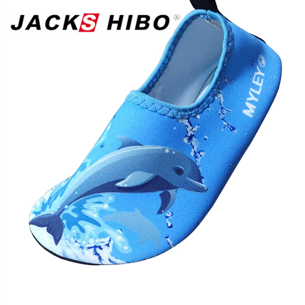 JACKSHIBO Summer Kids Sandals Breathable Child Indoor Socks Barefoot Slippers Aqua Shoes Children Non-slip Water Socks
