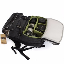 CAREELL double-shoulder camera bag slr camera bag canvas vintage fashion digital camera backpack c003