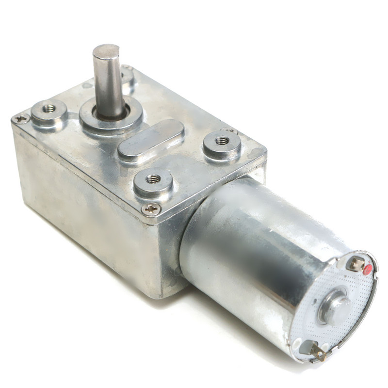 Strong Powerful 12V DC Motor High Torque Reduction Worm Reversible Turbo Geared