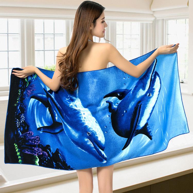 Micro Fiber Printed Beach Towel 140*70cm 50