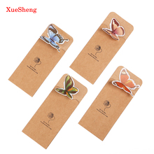 14 PCS Creative Butterfly Bookmarks Cartoon Book Marks Paper Clip Office School Gifts