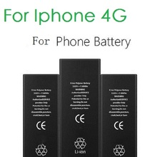 100% Original Brand Antirr Phone Battery For iphone 4 4G Real Capacity 1420mAh With Machine Tools Kit Mobile Batteries