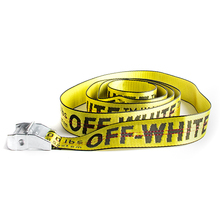 2017 New Off White Punk Luxury Designer Belts Men High Quality Male Rock Women Nylon Strap for Jeans Hip Hop Yellow
