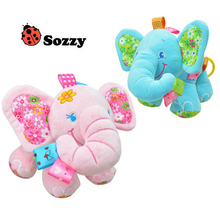 Sozzy Multifunctional Elephant Pull Bell Car Hanging Bed Hanging Comfort Toy Baby Toys