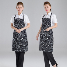 Free shipping Fashion adult cooking aprons for men women hotel restaurant waiter bbq apron cotton bib chef apron with pockets