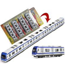 High Simulation Miniature Subway 44.5cm Long Train Scale Metal Car Model Diecast Kids Pocket Toys Collection Best Gifts Toys