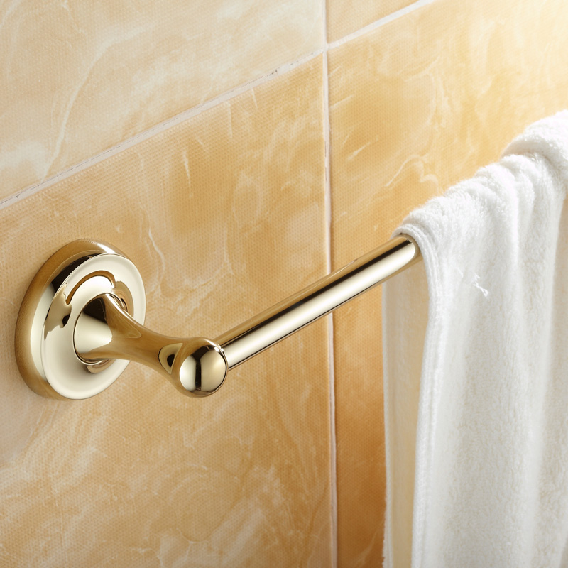 Luxury Solid Brass Towel Rack Antique Gold Single Towel Bar Polished Towel Holder Bathroom Accessories LG01<br>