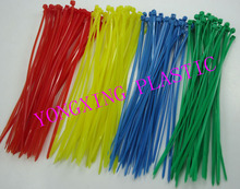 "2015 new 100pcs red yellow blue green 6"" 2.0x150mm Network Nylon Plastic Cable Wire Zip Tie Cord Strap bundle cable(China)"