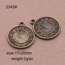 Buy 20PCS/Lot Hot Sale 17*20mm Antique Bronze Plated Zinc Alloy Clock Charms Pendants DIY Jewelry Making Findings for $2.72 in AliExpress store