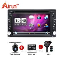 New universal car stereo Double din car dvd player GPS Navigation In dash Car PC Stereo Head Unit video+Free Map Cad!(China)