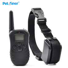 Petainer 998DR-1 300M 100LV Electric Shock Rechargeable Waterproof Remote Dog Training Collar products with LCD Display For 1Dog