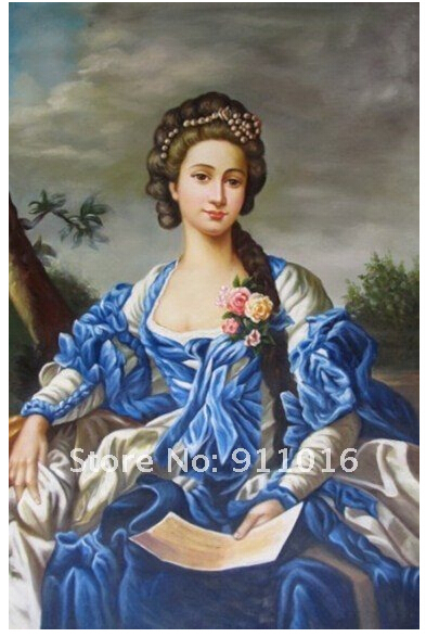 Skill Painter Handpainted Classical Character Oil Painting On Canvas Good Quality European Gentlewoman Oil Picture Lady Portrait(China (Mainland))