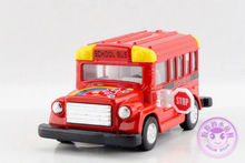 1 PC 9.5cm Kinsmart Alloy version lovely student school bus model car toys children gifts