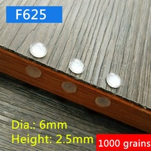 1000 grains 6x2.5mm Wholesale self-adhesive silicone Cabinet Door Bumper damper pad Accessories for kitchen cupboard drawer stop(China)