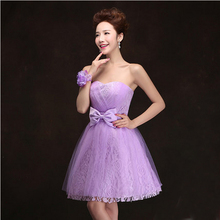 strapless cute puffy short lavender teen tulle cocktail dresses for juniors dress with lace ball gown 15 years 2017 H3196