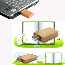 Pendrive 128GB/64GB Natural Wooden Book Model usb flash drive pendrive 4gb/8gb/16gb/32gb memory stick pen drive metal keychain