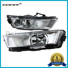 2pcs Free Shipping For Skoda Rapid 2013 2014 2015 New Front Pair Halogen Fog Light Fog Lamp With Bulb White Reflecting Frame