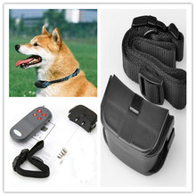 New Portable No Harm Electric 4 in 1 Remote Control Small Medium Dog Training Shock Collar Anti Bark(China)