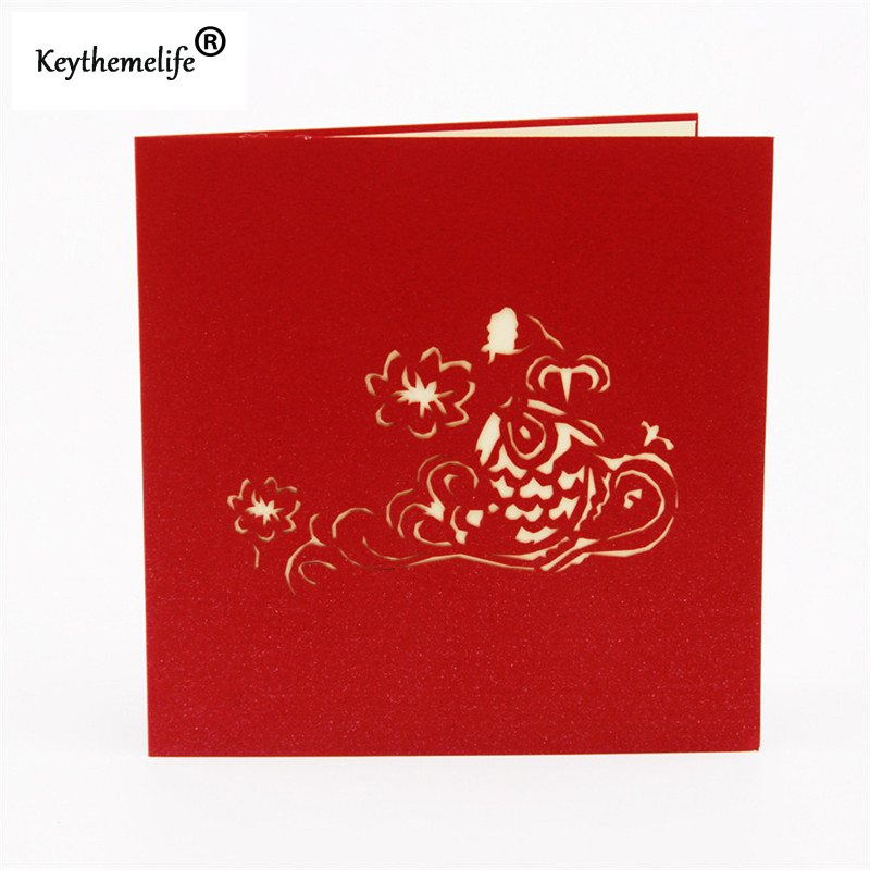 China-Red-3D-Fish-Cards-Invitations-Pop-Up-Postcards-Origami-Paper-Best-Wish-Greeting-Holiday-Gift (1)