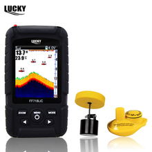 Lucky FF718LiC Real Waterproof Fish Finder Monitor 2-in-1 Wireless Sonar 328ft /100m fishfinder depth Sonar Wired Transducer #B0