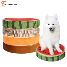 Cool Summer 3D Fruits Series Dog Cat Mat Dog Pet Bed Removable and Washable small dog Papillon Pomeranian Pet Product Kennels