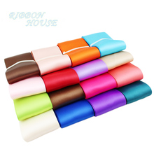 "(3 meters/lot) 2"" (50mm) High Quality Double Face Satin ribbon polyester wholesale Christmas Ribbons(China)"