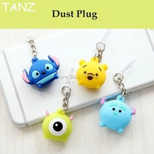 Sell Valuable Cute Big eyes Phone Anti Dust Plug Cell Phone Accessories For Iphone 4 5 SE 6 7 6S plus 3.5mm Earphone Jack Plug(China)