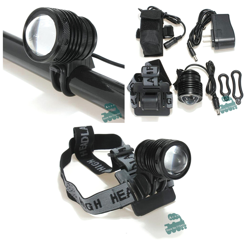 2000lm CREE XM-L T6 LED Zoomable Headlight Headlamp waterproof Torch Bike Mode for bicycle outdoor with 18650 battery +charger<br><br>Aliexpress