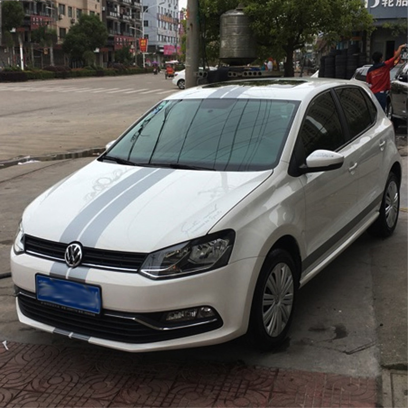 Fashion sportive car whole body decor refit stickers and decals,car roof hood rear bumpers decor vinyl sticker for VW GOLF 6,7<br>
