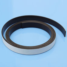 Soft Rubber Magnetic Strip Self Adhesive Flexible Magnet DIY Stripe Tape 1Mx10mmx1.5mm