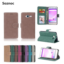 Soznoc Cover Case for ZTE Blade L3 Blade S6 Phone bag Dirt resistant Stand Slip Wallet Card Pure PU Leather Soft TPU Waterproof