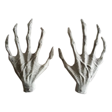 Halloween Plastic Skeleton Hands Witch Hands Haunted House Escape horror props Decorations(China)