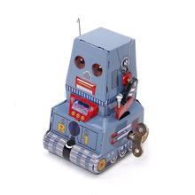 Wind Up Tank Robot Toy Collectible Gift w/ Key(China)