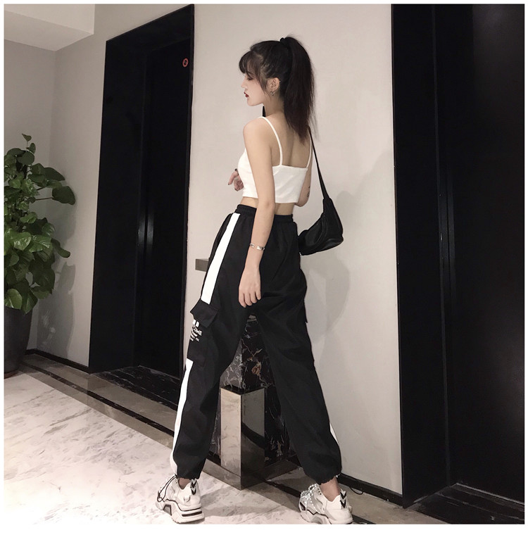 Hot Big Pockets Cargo pants women High Waist Loose Streetwear pants Baggy Tactical Trouser hip hop high quality joggers pants 23