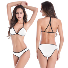 Women swimwear large size sexy bikini push up swimsuit low waist bathing suit beach volleyball clothe 2017 solid swimwear M L XL(China)