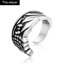 Timmilyar Unique Design Personality Ring Arrogance Carved Stainless Steel Cuff Finger Rings