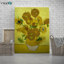 Vincent Van Gogh Modern Yellow Sunflower Poster Prints Original Floral Vase Canvas Oil Paintings Living Room Wall Art No Frame
