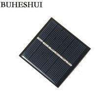 BUHESHUI 0.42W 3V 120MA Mini Solar Cell Polycrystalline DIY Solar Panel Charger For LED Light Education Epoxy 54*54MM 3pcs(China)